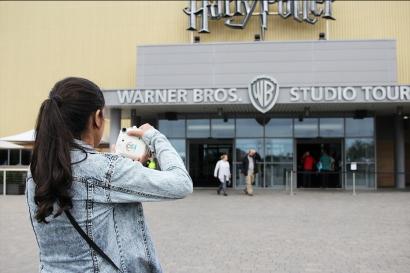 Nós já na entrada da WB!
