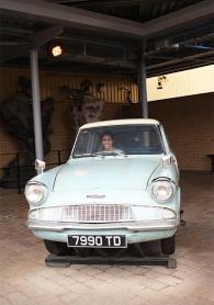 Não resisti e tive que fazer a pose no Ford Anglia dos Weasley!