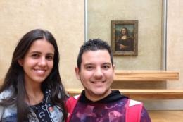 E conseguimos fotos bem próximas a Monalisa!